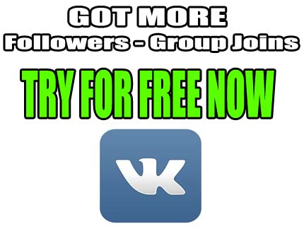 more vk followers, Group Joins